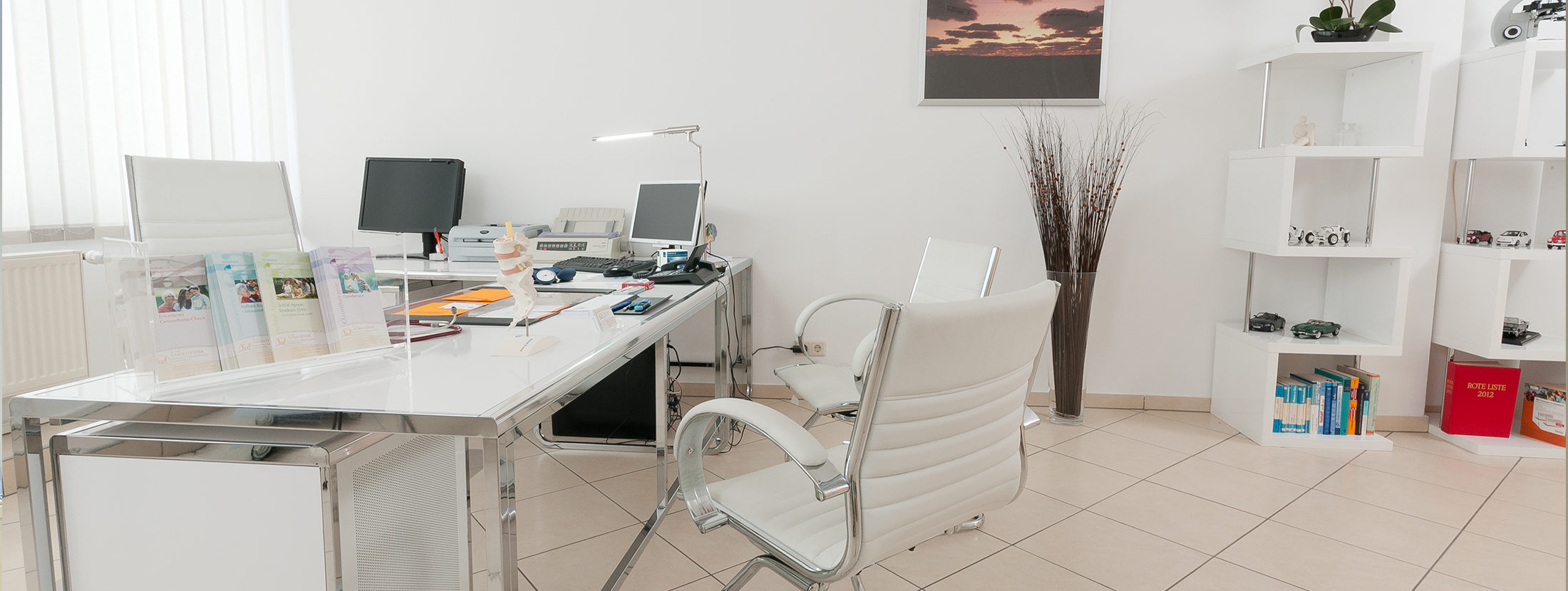 Das Beratungszimmer der Praxis